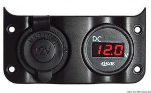 Voltometro 3/30 V + presa corrente [Osculati]