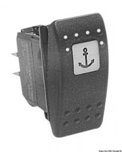 Interruttore (ON)-OFF-(ON) 2 lampadine 12 V [Carling Technologies]
