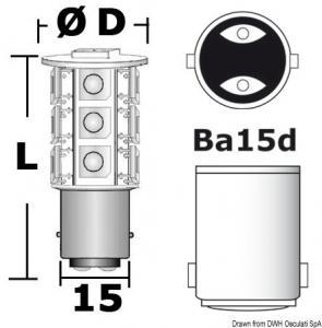 Lampadina LED 12/24 V BA15D 3,6 W 264 lm [Osculati]