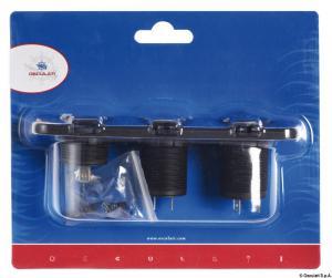 Voltmetro/Amperometro digitale, presa 12 V e USB [Osculati]