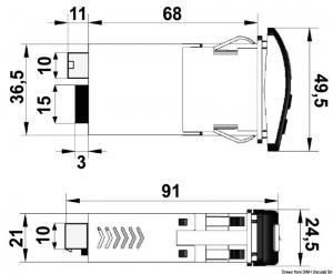 Interruttore per 1 tergicristallo 15 A [Osculati]