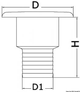 Tappo per rifornimento dritto Diesel 50 mm