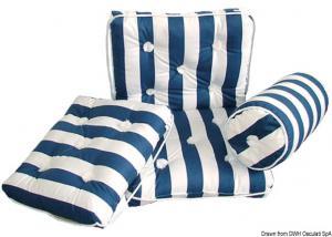 Cuscino forma rollo in cotone blu e bianco [Osculati]