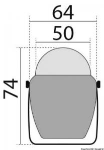 Bussola con staffa Finder bianca, rosa blu [Osculati]