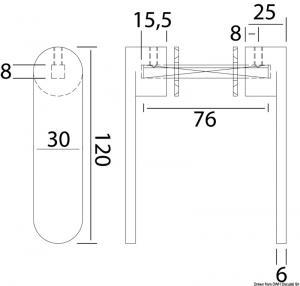 Maniglietta Nauta R Inox 8 mm [Osculati]