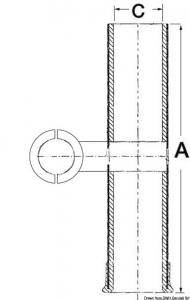 Portacanne Ultra in inox per tubi da 25 a 31,8 mm [Osculati]
