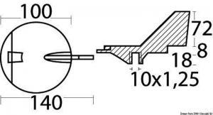 Anodo magnesio Yamaha 100/200 HP [Osculati]
