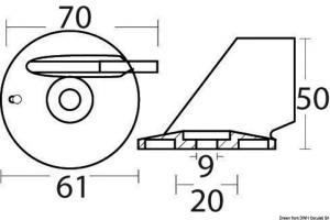 Pinna 40/70 HP 4T magnesio [Osculati]