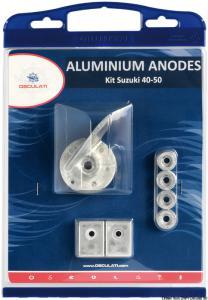 Kit anodi Suzuki 40/50 HP alluminio [Osculati]