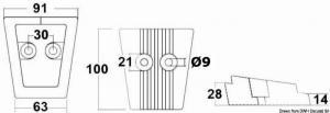 Anodo alluminio piede Volvo SX/DPS