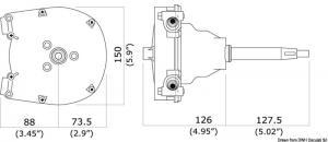 Timoneria rotativa singola T91 [Ultraflex]