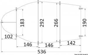 Telone universale cm 427/488 grigio 300D [Osculati]