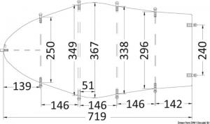 Telone universale cm 580/650 grigio 300D [Osculati]