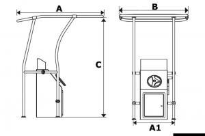 T-Top Alluminio retrattile 1,40 X 1,70 mt