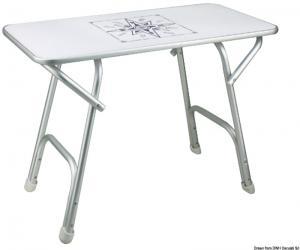 Tavolo pieghevole rettangolare 80x40 cm [Osculati]