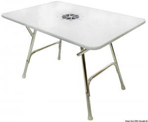 Tavolo pieghevole rettangolare 110x60 cm [Osculati]