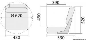 Sedile con schienale ribaltabile De Luxe bianco [Osculati]