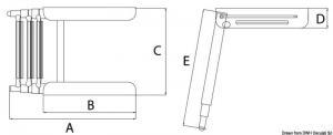 Scaletta telescopica 3 gradini [Osculati]