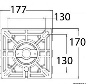 Supporto sedile Waverider con amm. 340-450 mm [Osculati]