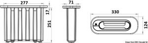 Scaletta di emergenza ad incasso adatta a soddisfare la norma ISO 15085 [Osculati]