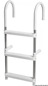 Scaletta Eco telescopica per plancetta 3 gradini [Osculati]