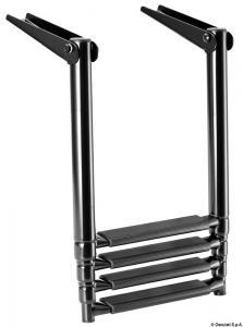 Scaletta Inox Telescopica per plancetta 4 gradini [Osculati]