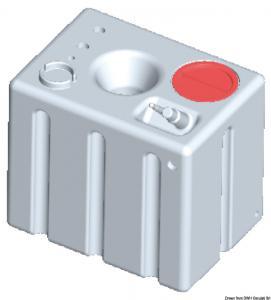Serbatoio rigido orizzontale acqua potabile 172 l [Osculati]