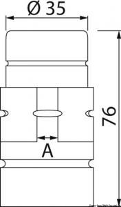 Ricambio forcella sterzo per piede poppiero Lato quadro 9mm [Osculati]