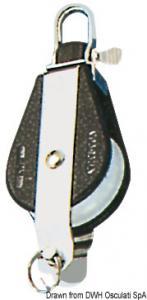 Bozzello 1 puleggia arricavo fisso o girevole A