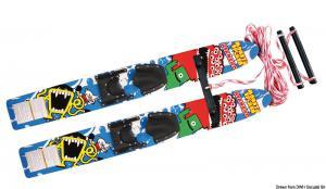 Sci nautici AIRHEAD Monsta Splash Trainer Skis in legno trattato [Kwik-Tek]
