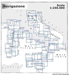 Carta Navimap Cervia-Chioggia/Punta della Maestra-Pola [OSCULATI]