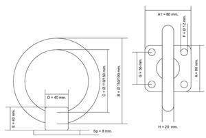 Anello inox con base Ø 150