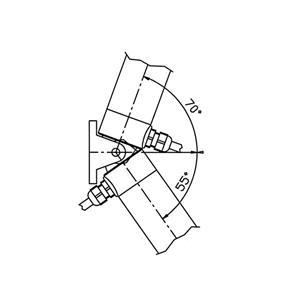 Attuatore elettrico lineare per portellone 24 V Corsa 300 mm