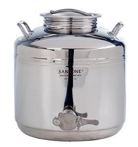 Fusto saldato per il miele con rubinetto da 15 litri. [Sansone]