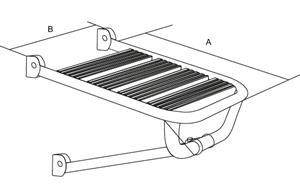 Plancetta di poppa senza scaletta Ø30