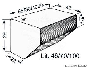 Serbatoio rigido per acqua potabile 70 lt