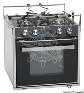 Cucine a gas SMEV Sunlight, versione Slim compatta con Grill [OSCULATI]
