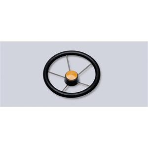 Volante in acciaio inox con impugnatura in poliuretano diametro 350 [Mavimare]
