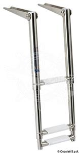 Scaletta inox telescopica stretta 3 gradini [Osculati]