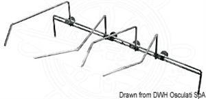 Fermapentole per piano vetroceramica 2 fuochi [Can]