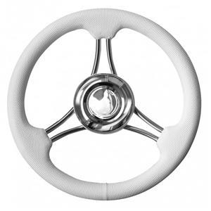 Volante inox impugnatura poliuretano colore bianco Ø 350. [MAVIMARE]