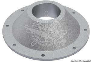 Base di ricambio per gamba tavolo in alluminio anodizzato sabbiato diametro 170 mm [OSCULATI]