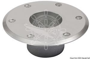 Base di ricambio per gamba tavolo in alluminio anodizzato lucido diametro 160 mm [OSCULATI]