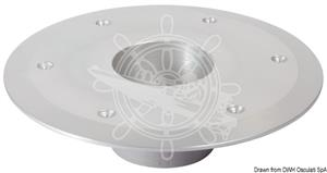 Base di ricambio per gamba tavolo in alluminio anodizzato lucido diametro 250 mm [OSCULATI]