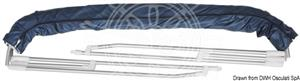 Capottina a 4 archi Inox alta cm 240/250 blu