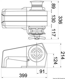 Verricello Italwinch Devon 1500 W - 24 V barbotin 8 mm