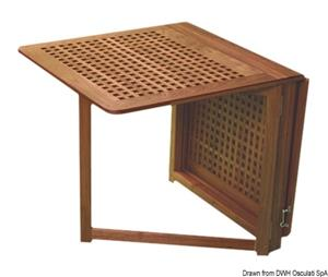 Tavolo pieghevole ARC con gambe a compasso cm 78x145x72