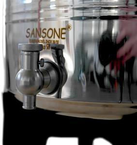Contenitore olio e vino inox saldato da lt. 2 Modello Europa