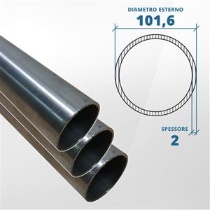 Tubo diametro 101.6 spessore 2 mm a finitura grezza [Tuttoinox]