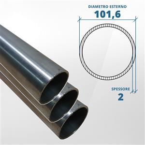 Tubo diametro 101.6 spessore 2 mm (opaco) - AISI 304 [Tuttoinox]